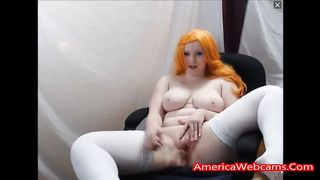 Chubby Redhead Has Fun With Her Hairy Pussy