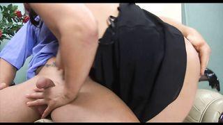 Deep In Her Fat Mature Ass