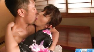 Marikaґs japan girl blowjob ends in a pussy creampie