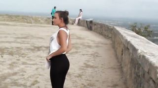 Tourist Couple Public Dirty Games Messy Facial