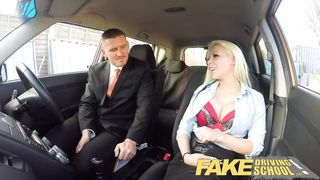 Fake Driving School Busty blonde examiners sexual skills secures her job