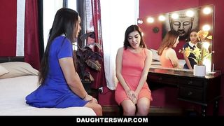 DaughterSwap - Two Dads Release Stress By Fucking Hot Daughters - Lily Adams, Audrey Royal