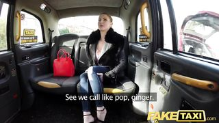 FakeTaxi.COM - Blue eyed Scottish babe loves rough fucking on back seat of taxi - Georgie Lyall