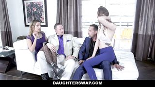 DaughterSwap - Two Hot Teens Fucking Their Grimey Fathers