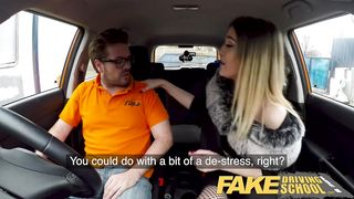 Fake Driving School - Petite learner with small tits eats instructors cum - Rhiannon Ryde