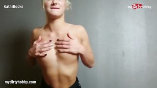 MyDirtyHobby.com - Gorgeous German blonde teases and have a sex in POV style - Kathi Rocks