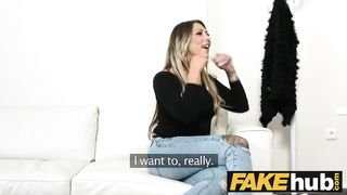 Fake Porn Hub - German girl with tattoos and natural body on white casting couch - HD