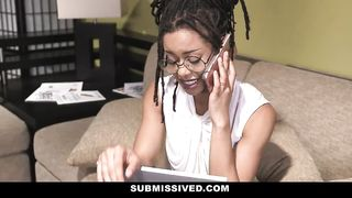 Punish Teens - Beautiful Ebony Queen Gets Filled With White Cock - Kira Noir