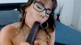 Big Tits Nerd Plays Her Snatch Wildly In front Of Her C