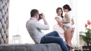 2 Hot young 18yo girls share one cock - TMW 2018, Evelina Darling, Kate Rich, Matt - HD 720p