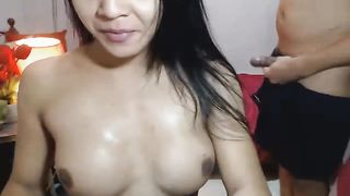 Horny Asian Tranny Gets Her Tight Ass Pounded
