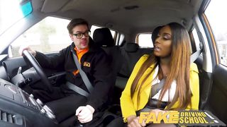 FDS - Hot Ebony MILF with Huge Tits Can`t Drive - Jai James