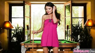 Adria Rae Solo Pussy Porn Video On A Pool Table