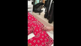 Girls Have A Fun In Fitting Room