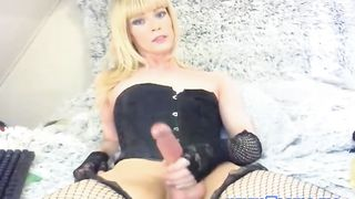 Blonde Shemale has a Twelve Inches Cock