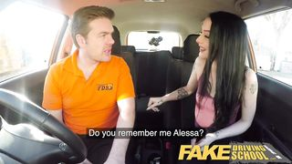 Fake Driving School - Hard sex and creampie on 2nd lesson - Alessa Savage - HD 720p