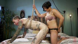 Mia Li femdom with strapon