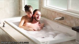 Lucas Frost, Alana Cruise Mom and son sex in a bathroom