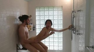 Sex in the Shower With Sexy Japanese Woman