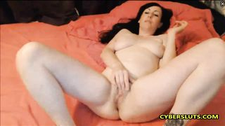 Lovely English brunette morning orgasm