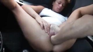 Fisting in a car