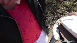 Public Agent - Babe in red fisnet body Fuck iN The Forest - HD 720p