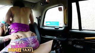 Female Fake Taxi - Punk Lesbian Strapon - HD 720p
