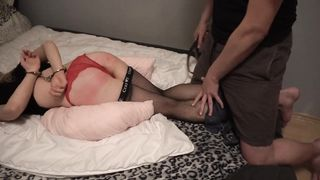 Butt Plug and spanking