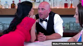 Johnny Sins Barman Threesome 2018 - Dani Daniels & Romi Rain HD 720p