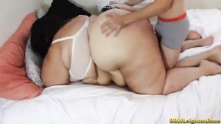Little boy and Super HUGE BBW SSBBW Hard Fucking Video