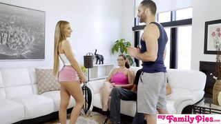 Stepmom and dad watching sex her stepson and dughter - Damon Dice, Moka Mora