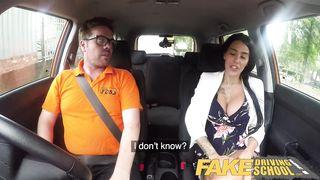 Fake Driving School 2018 Big Tits British Pornstar Alice Judge