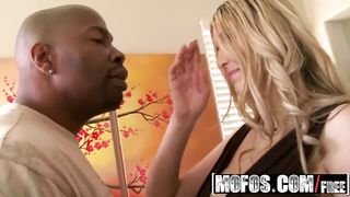 Sexy busty babe blonde fucked by big black cock - Athena Pleasures - HD 720