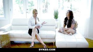 Lesbian sexy BDSM lesson - Kimber Woods, Sarah Vandella - HD 720p