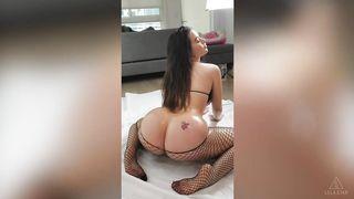 Lana Rhoades & Lela Star oiled up ass show (lesbian)
