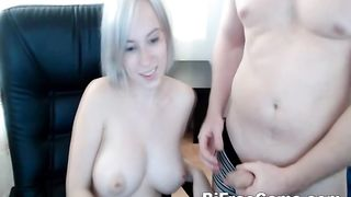 Hot Cute Teen Sucks Cock on Webcam