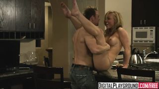 Digital Playground - hot blonde Home Wrecker gets plowed hard on the kitchen table - Kayden Kross - HD 720p