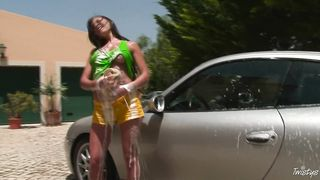 Car washing sexy solo porn video 2016 HD 720p