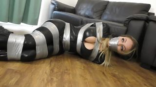 Sexy helpless bondage