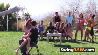 First time on swingers party