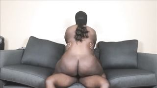 Black bbw sex cowgirl riding HD 720p