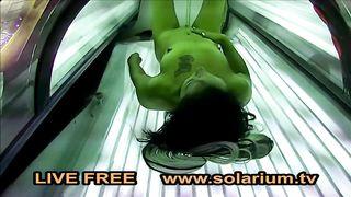 Solarium TV Porno Latina play with pussy on solarium 2018 HD 720p