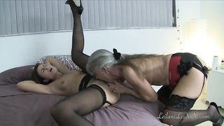 Granny Lesbian and MILF Lesbian Have a Sex Tape HD 720p