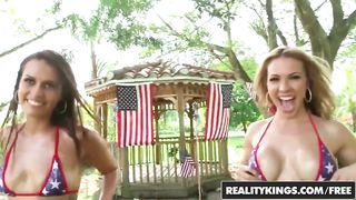 4 July 2016 Threesome Porn Video Reality Kings - Kelsi Monroe, Dylan Daniels - HD 720p