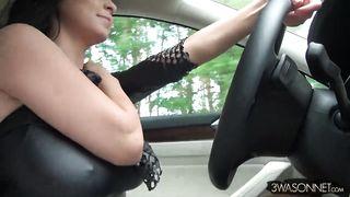 Big Tits Driving Topless - Ewa Sonnet - HD 720p