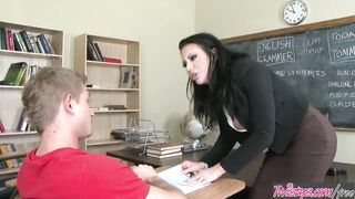 Female teacher fucks with her student in the school toilet - Mason Moore - HD 720p