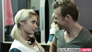 Digital Playground - Pigtail Blonde gets Fucked in the Bathroom - Riley Steele - HD 720p