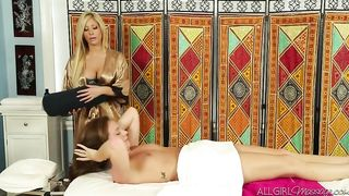 Maddy O'Reilly and Tasha Reign lesbian massage