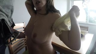 CZECH PIZZA DELIVERY GIRL FUCKS WITH CLIENT AMATEUR HD 720p