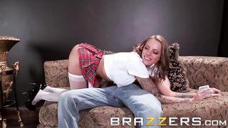BRAZZERS - Schoolgirl Fucked By Step Daddy - Juelz Ventura - HD 720p